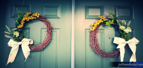 DIY: Making a wreath for Double Doors