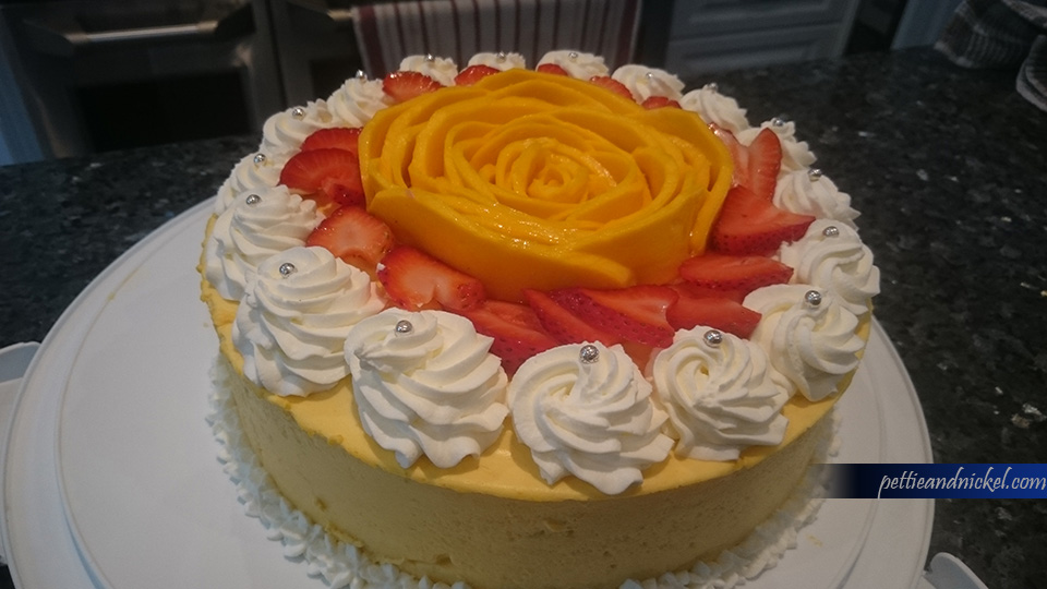 Mango mousse cake design