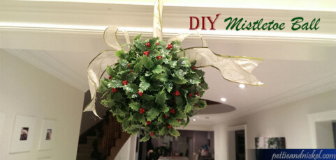 DIY Mistletoe Ball