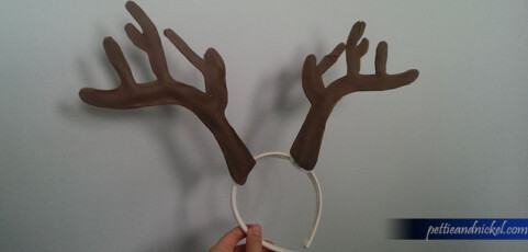 DIY Antler Headband for Christmas