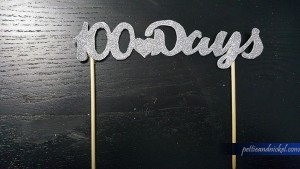 Sparkly 100 Day Cake Topper